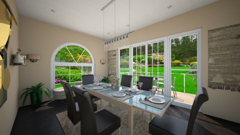 Warm Dining - Classic - Dining room - by nadineyahya
