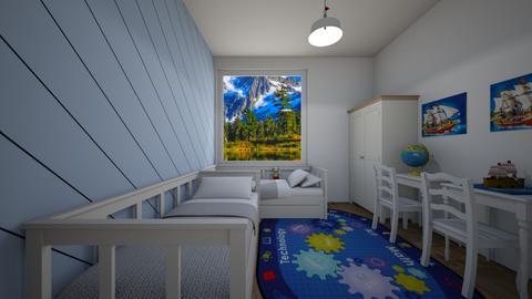 Stripes - Masculine - Kids room - by Twerka