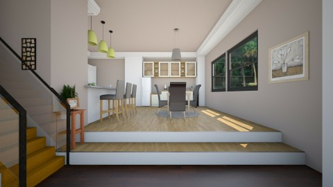 Kitchen l Elevated  - Modern - Kitchen - by Jhiinyat