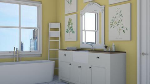 yellow  - Country - Bathroom - by NEVERQUITDESIGNIT