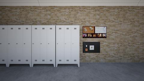 school hallway - by canvas_creativity