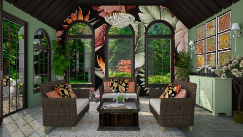 Design 260 Tropical Print 2 - Living room - by Daisy320
