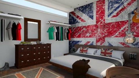 English boy - Retro - Bedroom - by Sali15