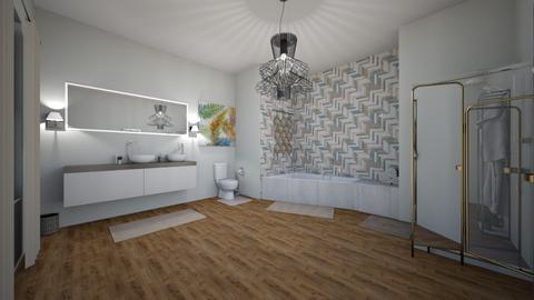 bright bath - Minimal - Bathroom - by ashazel99