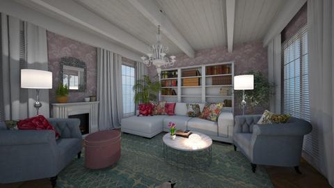 Shabby Chic  - Living room - by amyskouson