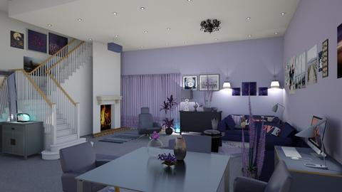 Rhapsody in blue - Classic - Living room - by nat mi
