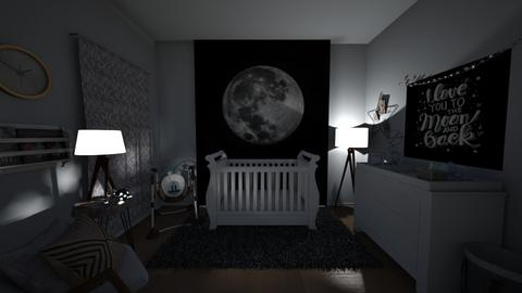 To the Moon and Back - Bedroom - by Sierra Fox