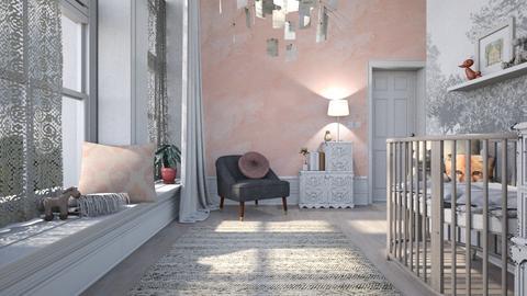 Pink Baby - Feminine - Kids room - by evahassing