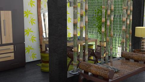 Bamboo corner - Dining room - by augustmoon