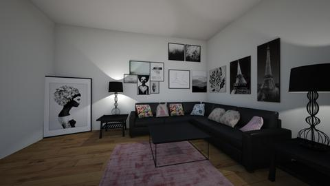 black and pink - Living room - by hillygabe