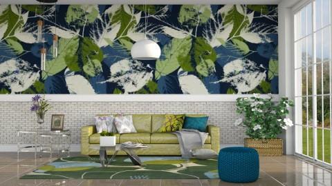 Folhas na parede - Living room - by Alecio