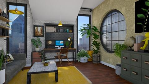 Urban Jungle Office - Masculine - Office - by Nicky West