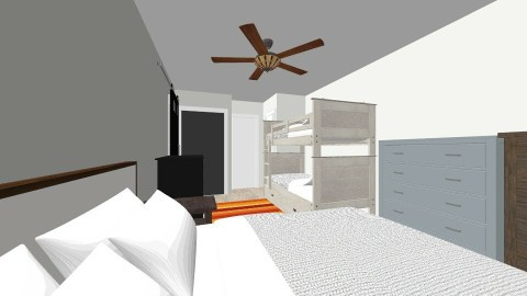 Apartment Bedroom 1 - Minimal - Bedroom - by fiveburkes