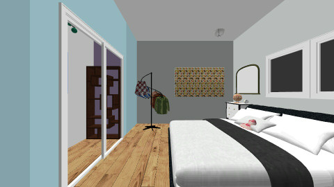 cozy and un finished - Modern - Bedroom - by isis brown