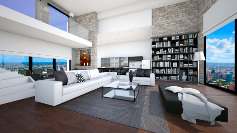 level with bck and wte - Modern - Living room - by Senia N