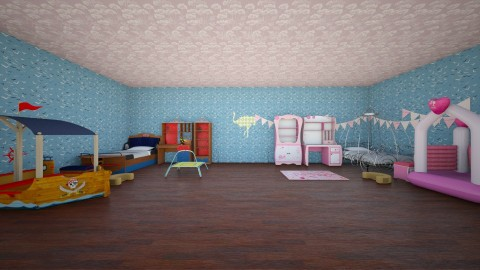 this is what happened  - Retro - Kids room - by Cheyenne Stephenson