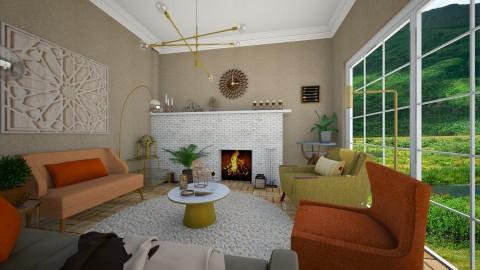 MCM Living  - Retro - Living room - by camilla_saurus