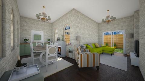 modern flat - Living room - by beckygoatcher