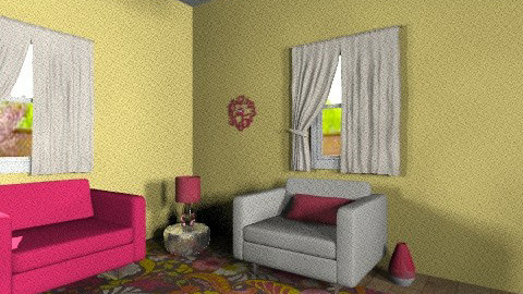 Pink and Yellow Spring - Feminine - Living room - by jessicalove