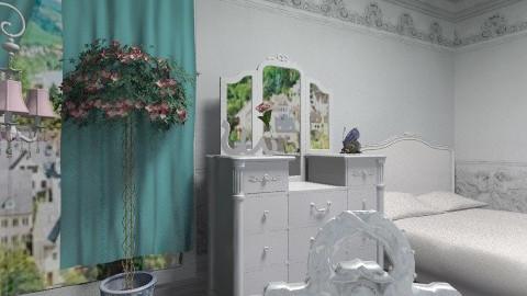 Romantic - Rustic - Bedroom - by milyca8