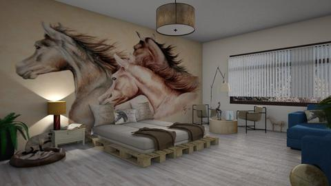 horselover  bedroom - by ilcsi1860