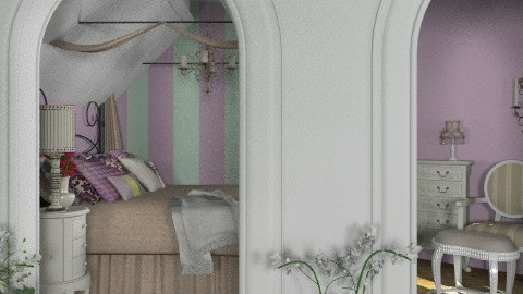 French bedroom in the attic - Classic - Bedroom - by Laurika