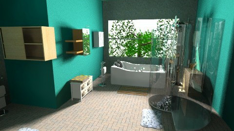 Green - Modern - Bathroom - by BlackVelve7