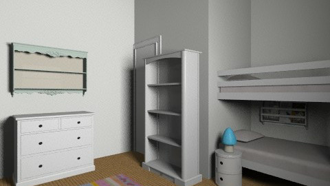Twins option 5 - Kids room - by gaylefirmin