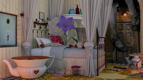 White Rabbit - Bedroom - by Mum Dali