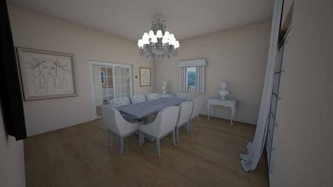 classic dining room - Dining room - by AfroditeGoldie