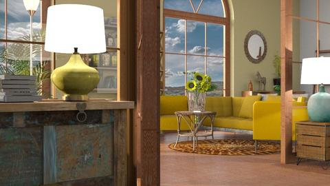 Yellow_Sofa - Living room - by ZuzanaDesign