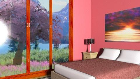 Romantic paradise - Minimal - Bedroom - by Hayat Ahmed