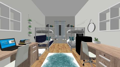 Dorm room project - Bedroom - by isabelbrouch