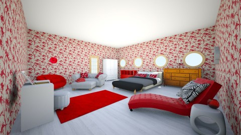 Red Room - Modern - Bedroom - by anjel0228