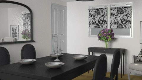 Black and White Contemporary - Dining Room - by FranklyDear