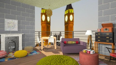 Deck - Eclectic - Living room - by drummerx33grl17
