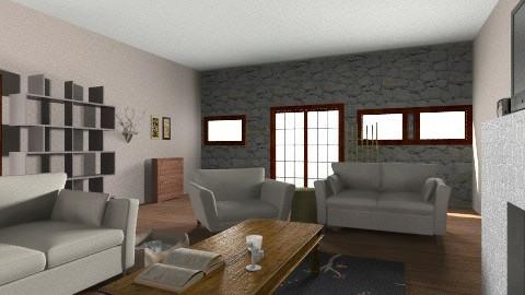 salon - Living room - by Ola Augustyniak