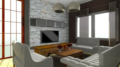 brown room - Rustic - Living room - by dancergirl1243