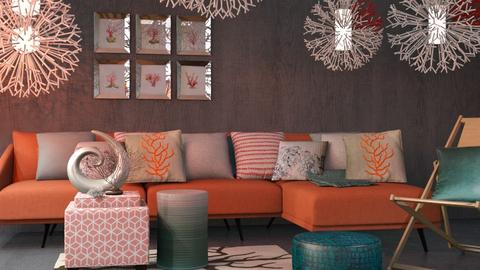 Coral Teal - Modern - Living room - by Jessica Fox