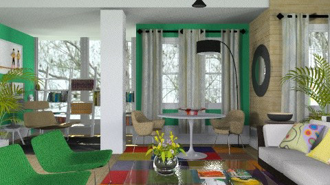 Green - Eclectic - Living room - by M_Lane