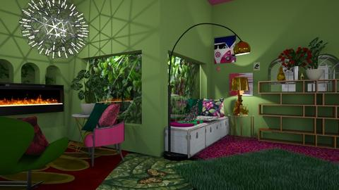 Bright Living Room - Retro - Living room - by HIHELLOHI