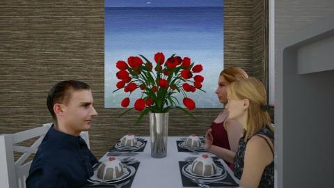 family eating - Dining room - by ssohurricane