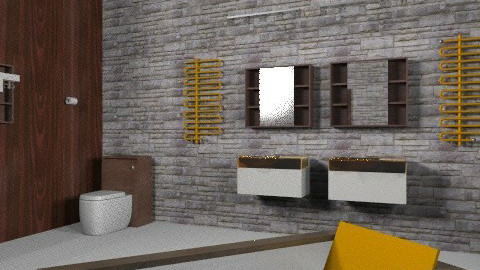 Mod Living Bathroom Tree Tops - Glamour - Bathroom - by david_daniel_beech