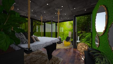 jungle bedroom - by mo_de_in_studio