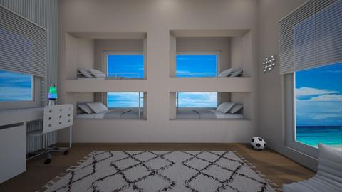 bunk bed beach house - Kids room - by dlefk