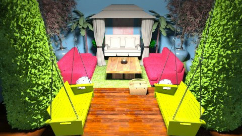 garden room - Country - Bedroom - by PSophie