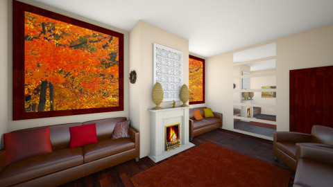 Autumn Living Room - Living room - by P_C