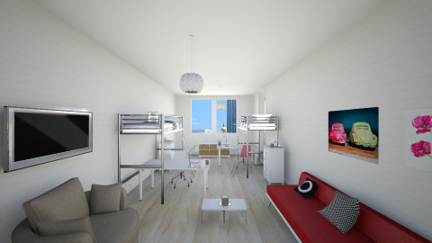 college room - Minimal - Bedroom - by franciss