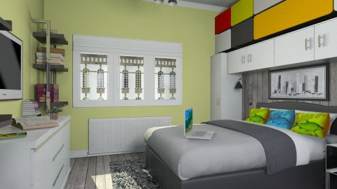 For PDM1980 2 - Eclectic - Bedroom - by Theadora
