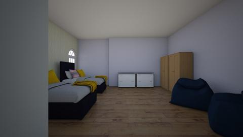 rustic modern bedroom - Rustic - Bedroom - by carolinevo